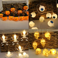 Halloween Fairy String Light Ghost Pumpkin Lamp Home Garden Party Decor 10 LED