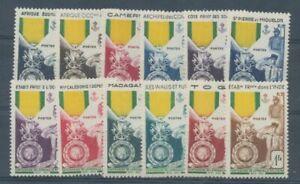 Colonies françaises Série des médailles 12 Valeurs Neuf Luxe ** H2265