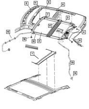 Genuine MOPAR Sunroof Mechanism Cover 5174220AA