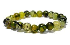 Dragon Agate 8mm Beads Bracelet Healing Natural Stone Chakra Balancing Handmade