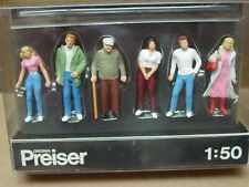 PREISER GERMANY MODEL 1:50 FIGURE O SCALE PEOPLE STANDING OUTDOORS #68203 MIP
