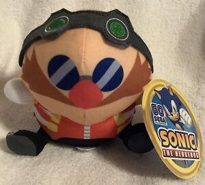 "Sonic the Hedgehog Dr. Eggman Plush Doll Stuffed Animal 6""  Authentic Sega NWT"