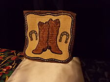 "COWBOY GIRL BOOTS PARTY MINI BAG FILLERS STOCKING STUFFER PRIZE GIFTS 5""X5"""