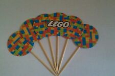 Lego Cupcake Cup Cake Toppers Cup Cake Decorations x 6