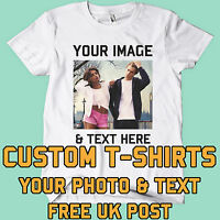 Your Image text Photo Here Custom T Shirt Printing Personalised Stag Hen Party