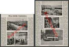 Straßenbahn Doppelstock Wien Schaffnerin Station Meidling Simmering Verkehr 1920