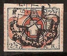 s2040) Schweiz Zürich 1850 Wintherthur Sperati  - rücks Handstempel + Signatur