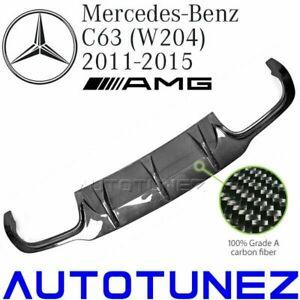 Carbon Fiber Rear Diffuser Bumper Mercedes Benz C63 AMG C Class W204 2012-2015 T