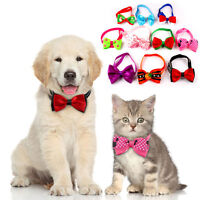 10/20/50pcs Small Dog Bow Tie Puppy Necktie Halloween Christmas Collar Accessory