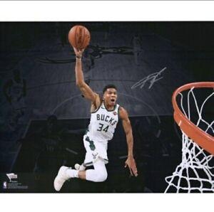 "Giannis Antetokounmpo Milwaukee Bucks Autographed 16"" x 20 Signed Fanatics Auto"