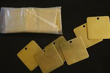 Brass tags 2 inches,new.25 pieces.