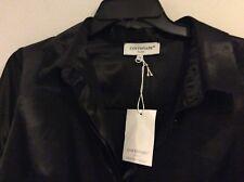 NWT Cottonade Black Button Noir Chemise Shirt Size Taille 44 12 HUGE Savings