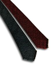 Wool tie 4 In 1 British woollen tweed tie red blue grey brown