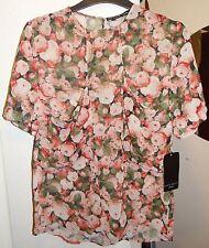Zara Chiffon Semi Fitted Tops & Shirts for Women