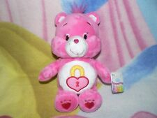 """NWT 8"""" PLUSH PINK PADLOCK SECRET CARE BEAR BABY BOY GIRL GIFT COLLECT 1980s TOY"""