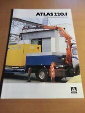 Prospekt ATLAS Weyhausen Ladekran 220.1 Ausgabe 1998