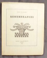 MAX ELSKAMP REMEMBRANCES  J E BUSCHMANN 1924   250 ex 1/200 vélin