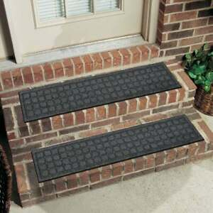Mohawk Home Square Expressions Brown 8 In. x 36 In. Recycled Rubber Stair Tread