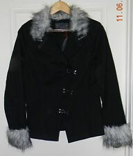 Tripp  Fur Hook Jacket Ladies Coat Gothic - Size SMALL