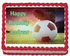 Soccer Futbol Edible Cake Topper Icing 1/4 sheet Personalized Party Decoration