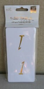 Table Number Cards 1-30 - Gold Foil Numbers - Weddings & Events ****FREE P&P****