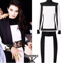 H&M X Balmain & H&M Colorblock Skirt Black/White Size 8 Rare Sold Out Exclusive