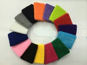 2X Multi-Colour Sports Wrist Sweatbands Tennis Basketball Badminton Wristband