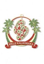 Hawaiian MELE SLIPPERS FLIP FLOPS XMAS METAL ORNAMENT Hawaii New NIB DieCut Shoe