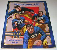 1981 NOTRE DAME FIGHTING IRISH vs LSU TIGERS NCAA FOOTBALL PROGRAM Louisiana St.