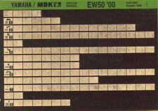 YAMAHA EW 50 _ Service Manual _ Microfich _ microfilm _ Fich _ 99