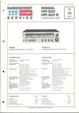 ITT/Graetz Original Service Manual für HiFi 8031/ B/ C