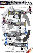 LF Models Decals 1/72 VULTEE BT-13 LATIN AMERICAN VIBRATORS Part 1