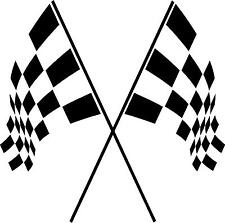 checkered Flags wall vinyl decal