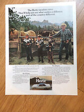 1971 Hertz Rent A Car Ad   1971 Ford Galaxie or Torino