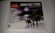 MOONLIGHT PIANO ATMOSPHERIC MOODS 2CD SET NEW SEALED FEAT  MOON RIVER ETC..