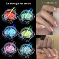 Glitter Nail Powder Holographic Nail Art Chrome Pigment Manicure Decoration Tips