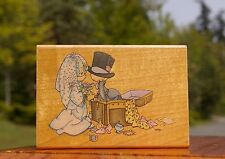 Precious Moments Togetherness Wood Mounted Rubber Stamp 1996 Stampendous Wedding