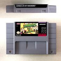 Zombies Ate My Neighbors 16 Bit Game Cartridge Console Version Nintendo US SNES