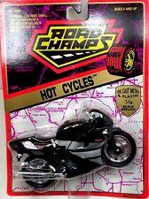 1993 Road Champs Hot Cycles 1:18 Yamaha  RC10 750cc Black Motorcycle