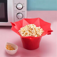 Popcorn Silicone Bowl Microwave Maker & Folding Kitchen Homemade Popcorn Bucket.