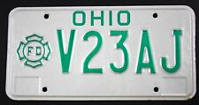 Vintage 1985 Original  OHIO Volunteer Fireman License Plate V23AJ