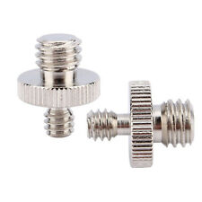 """2pcs 1/4"""" Male to 3/8"""" Male Threaded Metal Screw Adapter For Camera Tripod Stand"""