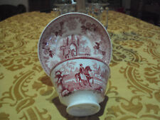 ANTIQUE STAFFORDSHIRE CUP & SAUCER CIR, 1826-1843 NO CHIPS