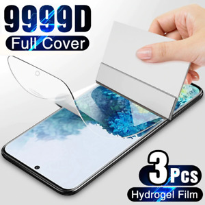 3Pcs Protective Hydrogel Film Screen Protector For Samsung Galaxy S21 S20 S10 S9