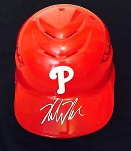 Mickey Moniak Autographed Philadelphia Phillies Full-Size Helmet/ JSA