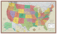 Swiftmaps United States, USA, US Contemporary Elite Wall Map Large Mural Poster