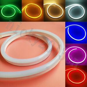 12V 220V LED Flexible Neon Tube Strip Light Rope PVC IP67 Waterproof 8×16mm Sign