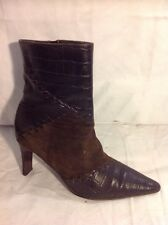 Roberto Vianni Brown Ankle Leather Boots Size 37