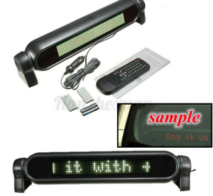 12V LED Laufschrift Display Anzeigetafel Werbung Board Programmable Message Weiß