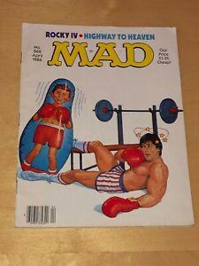 Mad Magazine April 1986 Sergio Aragones Don Martin Rocky IV Highway To Heaven